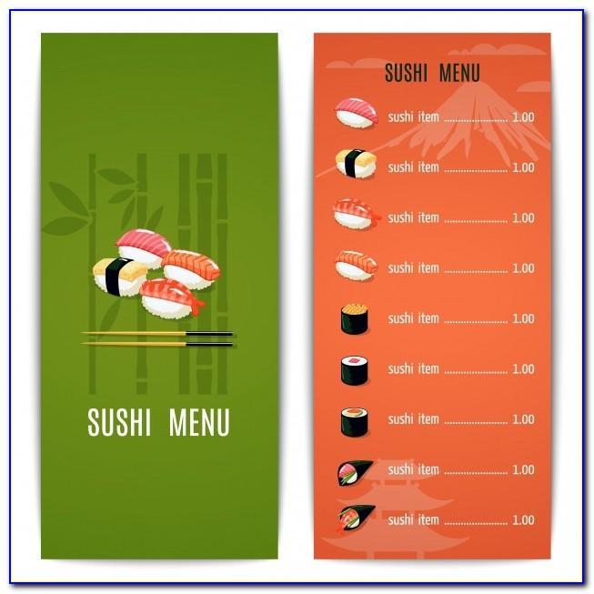 Free Sushi Menu Template