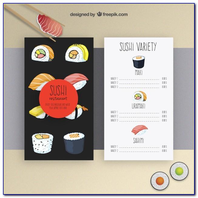 Free Sushi Restaurant Web Template