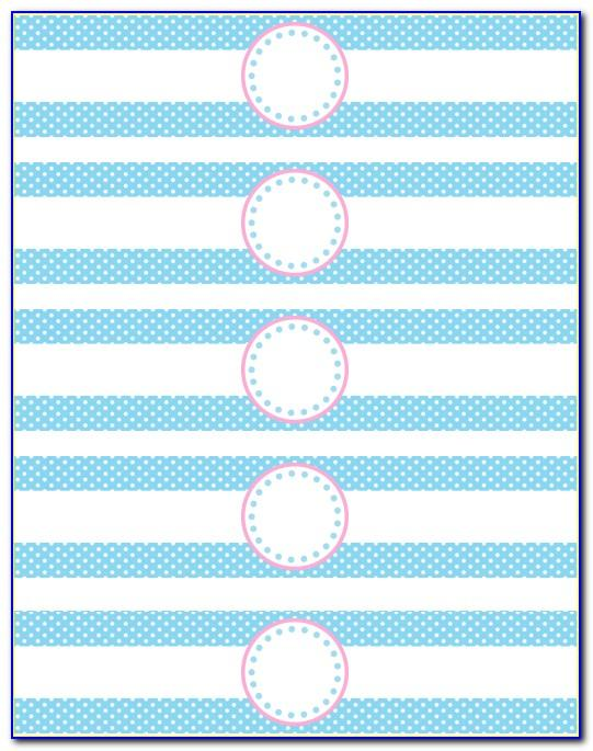 Free Template For Water Bottle Labels Baby Shower
