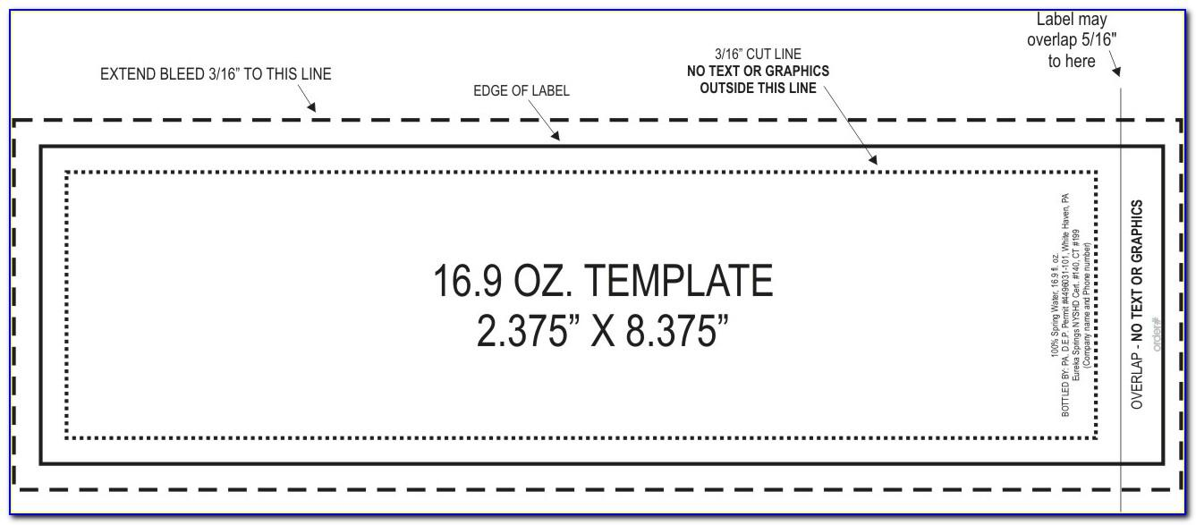 Free Template For Water Bottle Labels For Wedding