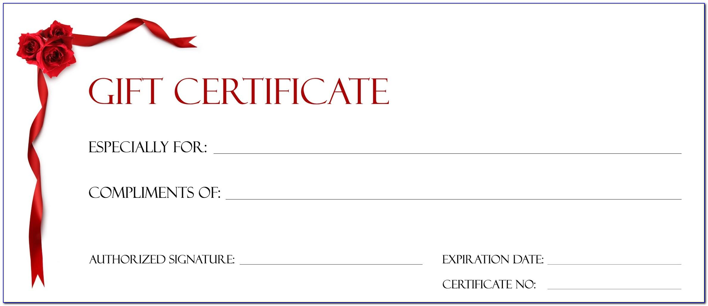 Free Template To Make A Gift Certificate