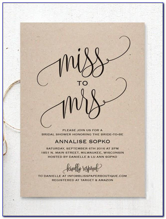 Free Templates For Bridal Shower Invitations