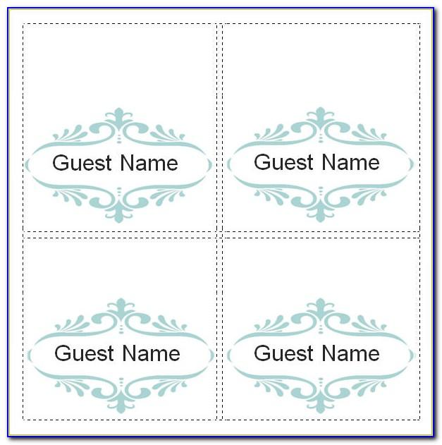 Free Wedding Place Card Template Microsoft Word