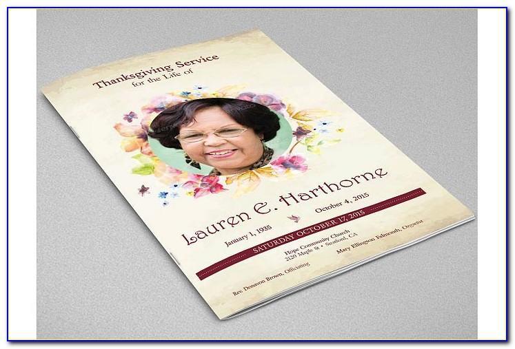 Funeral Program Template Adobe Indesign