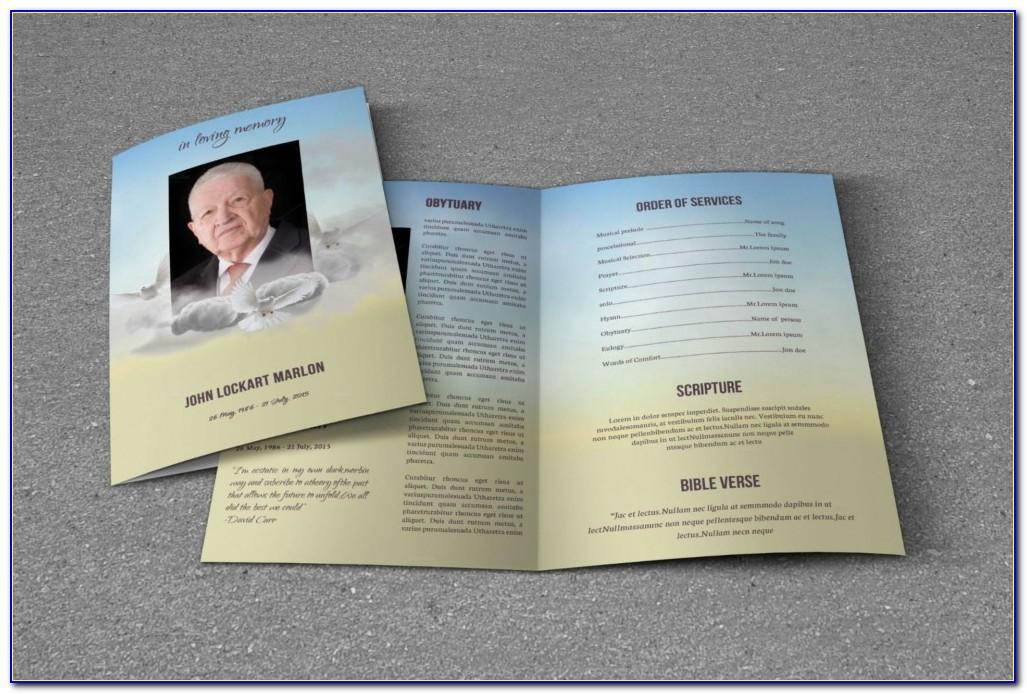 Funeral Program Template Indesign Free