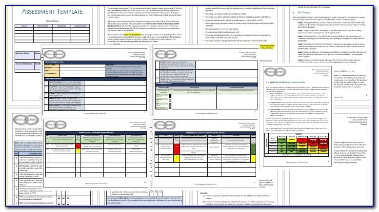 Gdpr Privacy Impact Assessment Template