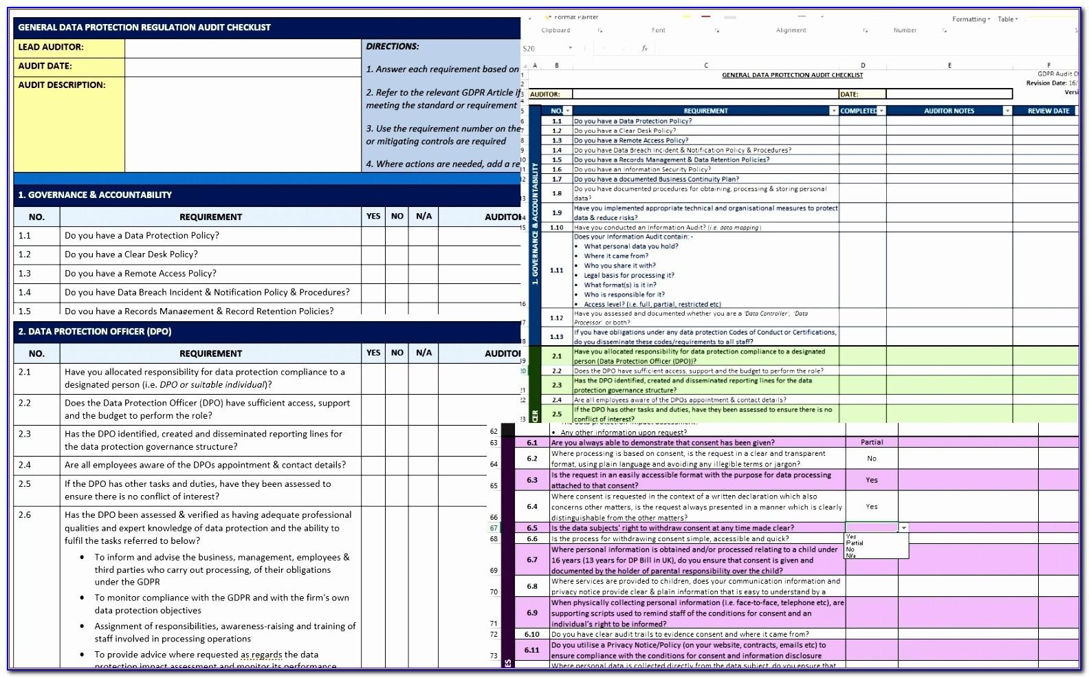 Gdpr Risk Assessment Template Free