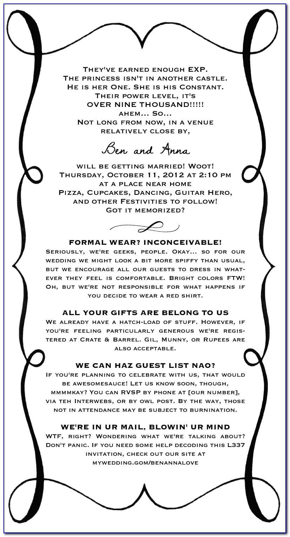 Geeky Wedding Invitation Templates