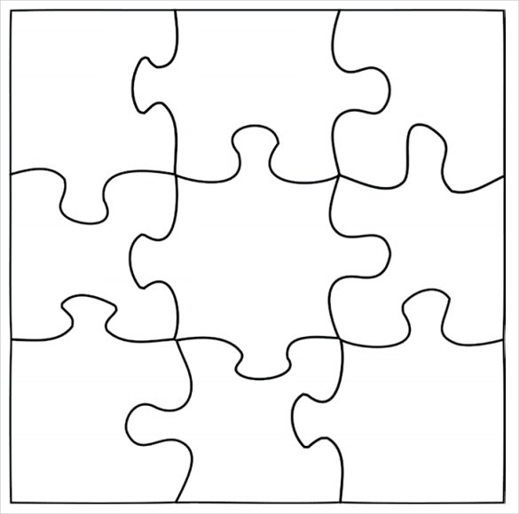 Giant Jigsaw Puzzle Template