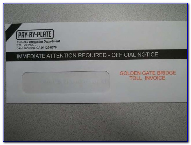 Golden Gate Bridge Toll Lost Invoice
