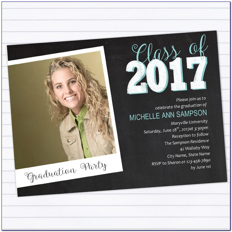 Graduation Invitations 2017 Templates