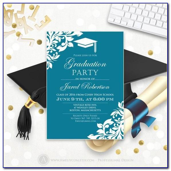 Graduation Party Announcements Template