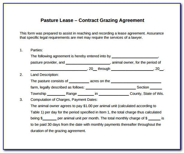 Grazing Lease Agreement Template