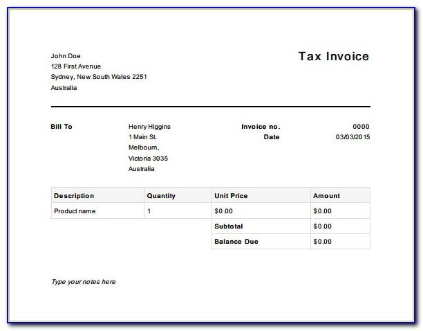 Gst Tax Invoice Format Pdf