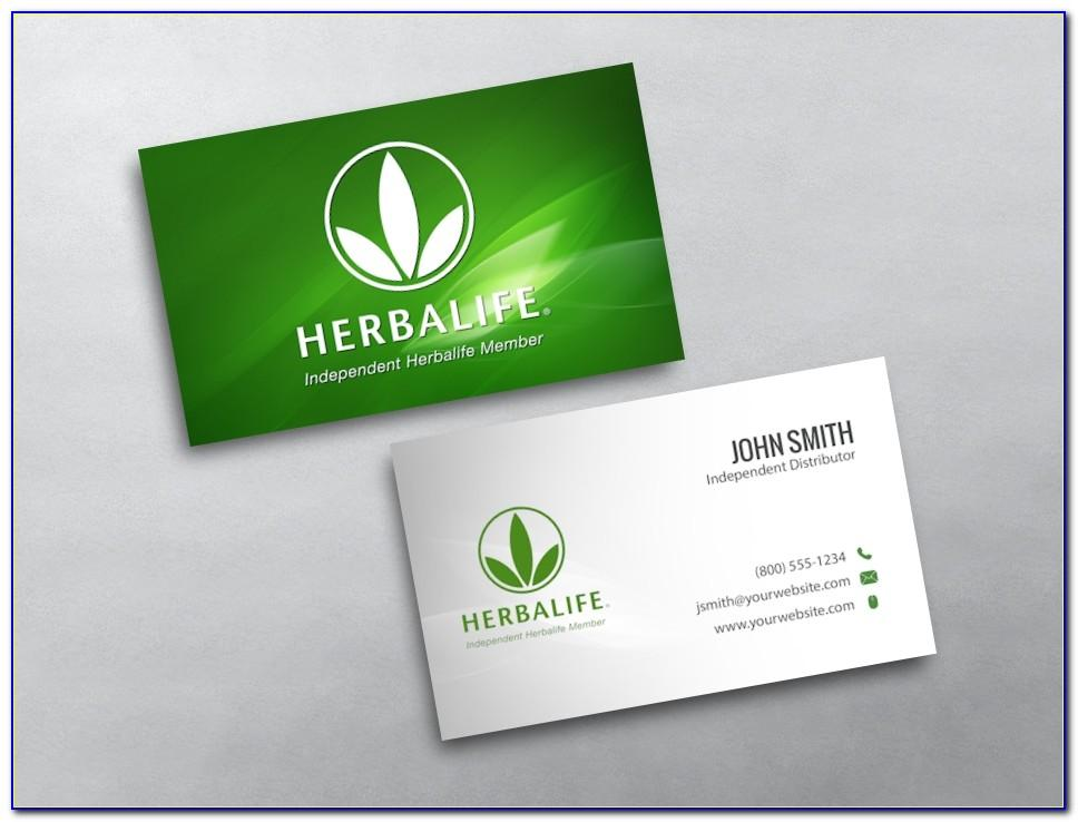 Herbalife Business Cards Free Templates