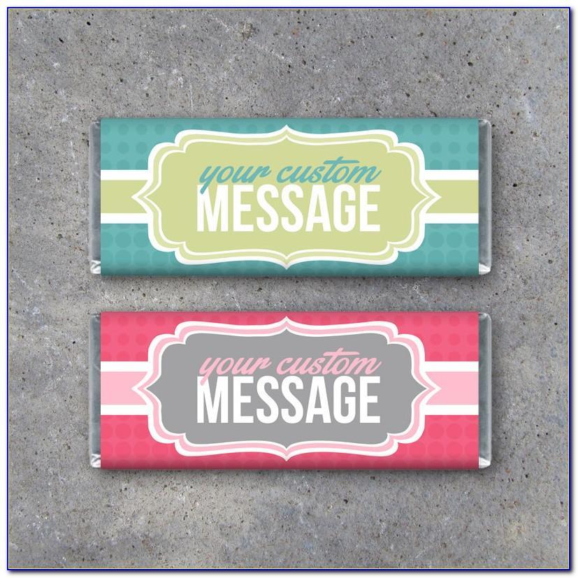 Hershey Bar Custom Wrapper Template