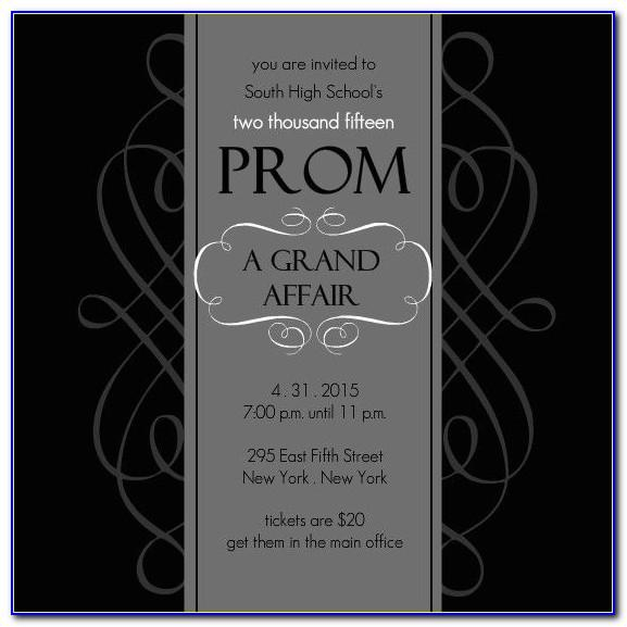 High School Prom Invitation Template