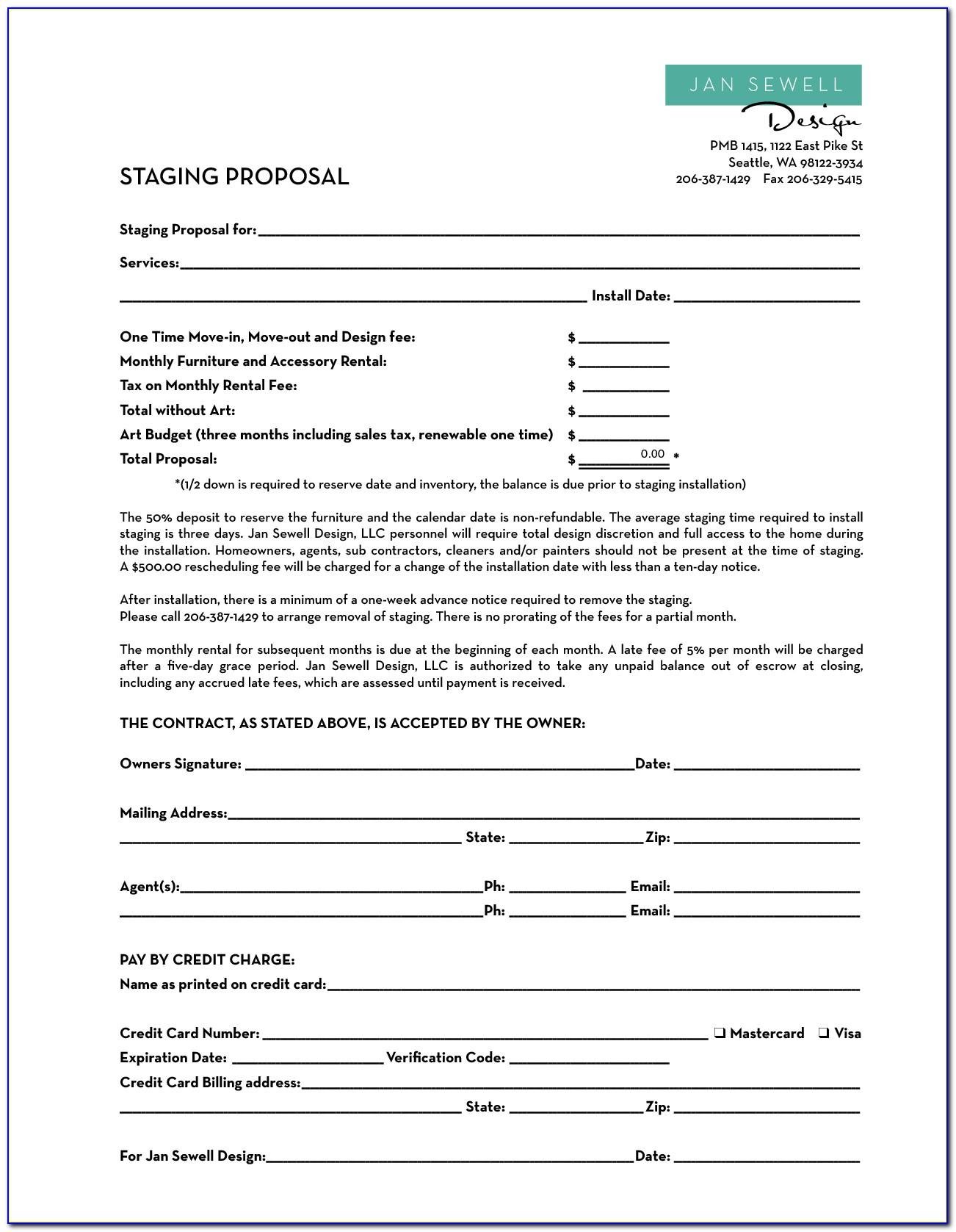 Home Staging Proposal Template