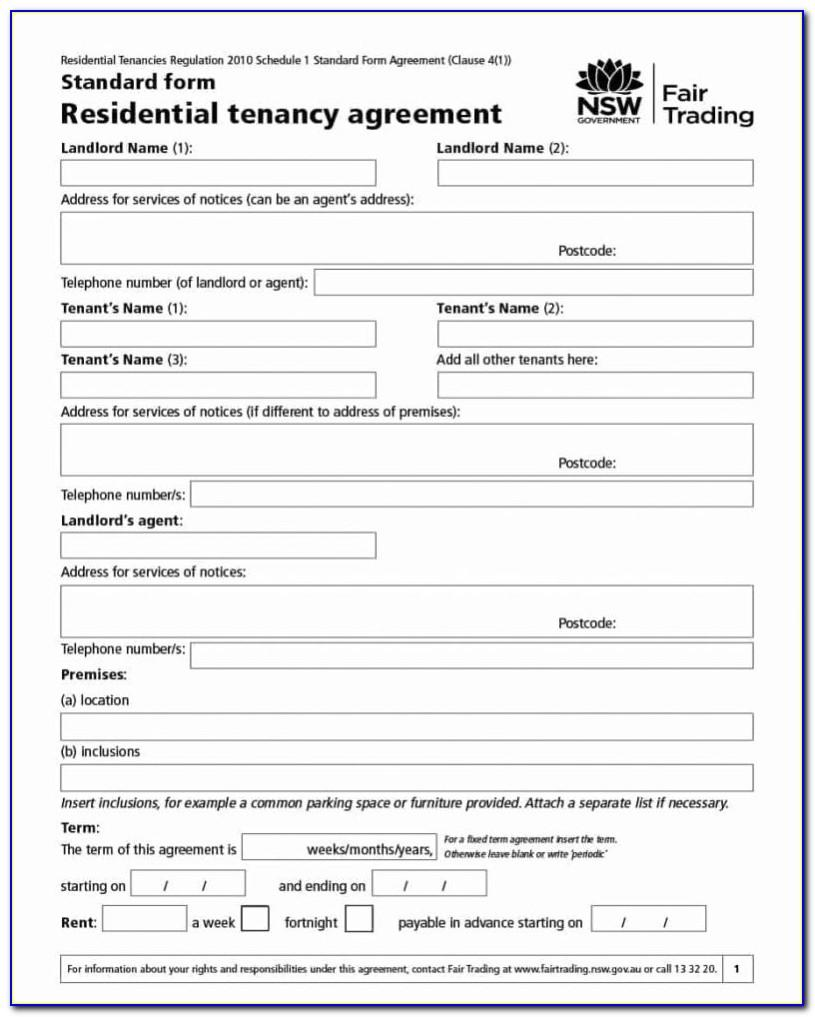 Housemate Lease Agreement Template