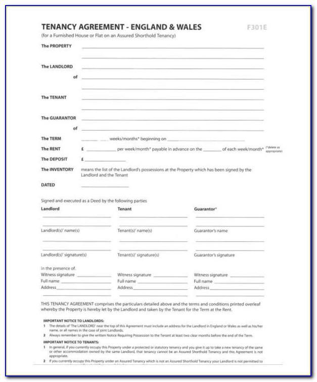 Housemate Rental Agreement Template