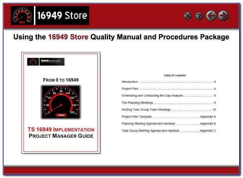 Iatf 16949 Quality Manual Sample