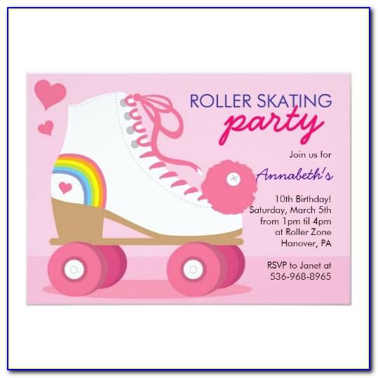 Ice Skating Party Invitation Template