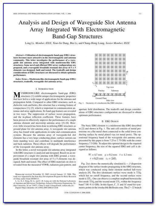 Ieee Antennas And Wireless Propagation Letters Word Template