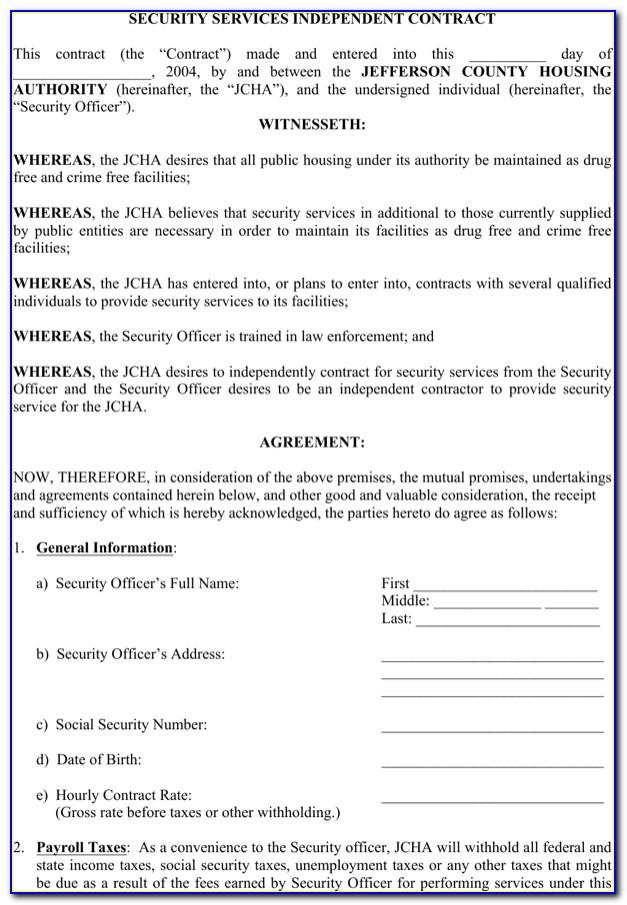 Independent Contractor Proposal Template