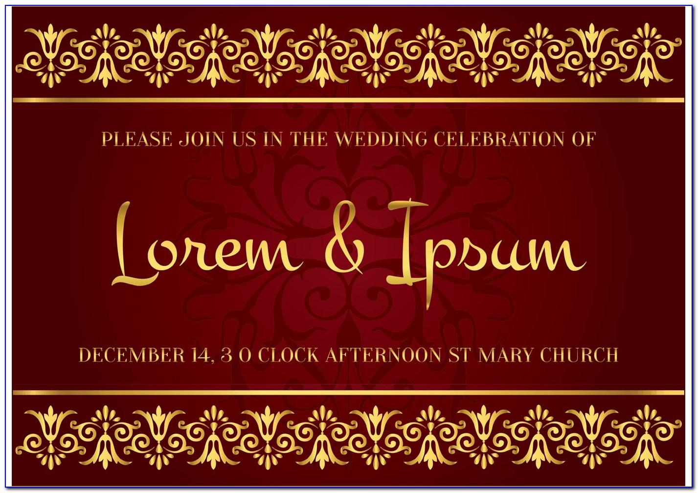 Indian Marriage Invitation Cards Templates