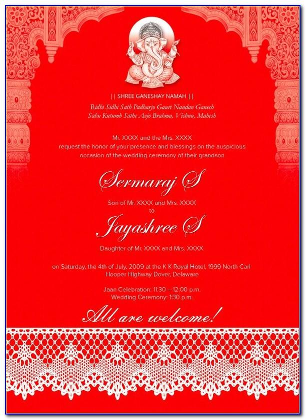 Indian Marriage Invitation Templates Free Download