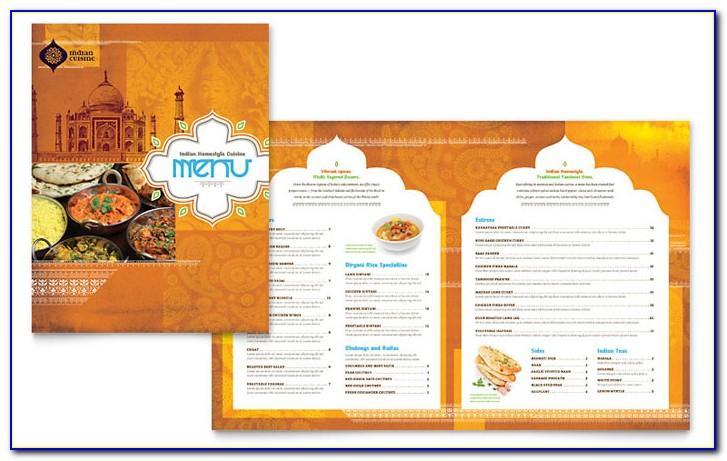 Indian Menu Template Free Download