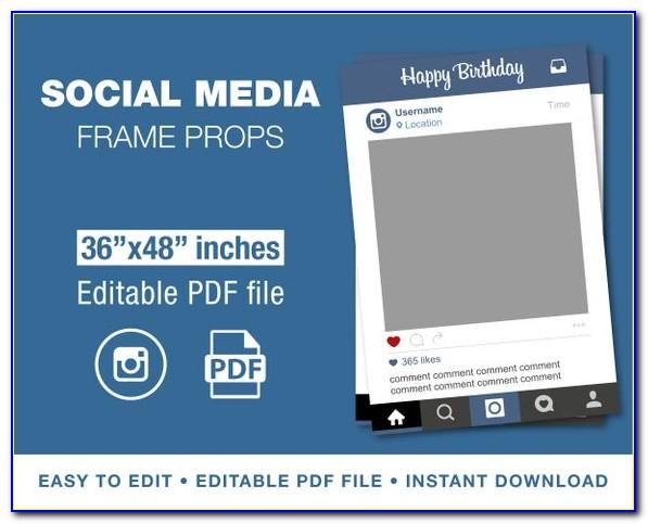 Instagram Photo Prop Template Free