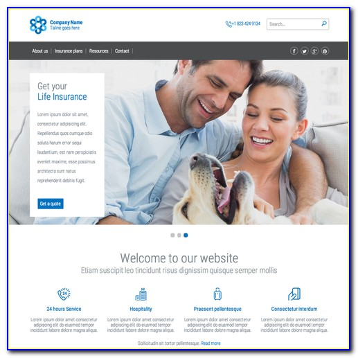 Insurance Responsive Website Template Free Download