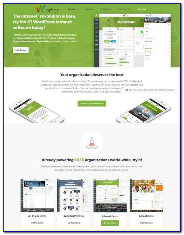 Intranet Website Template