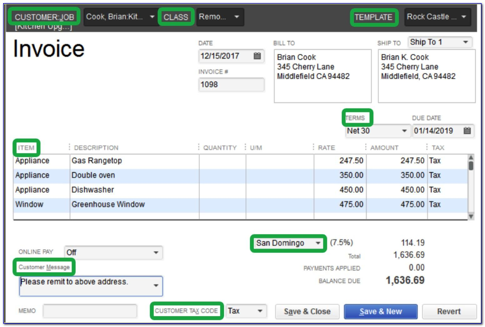 Intuit Invoice Templates Download