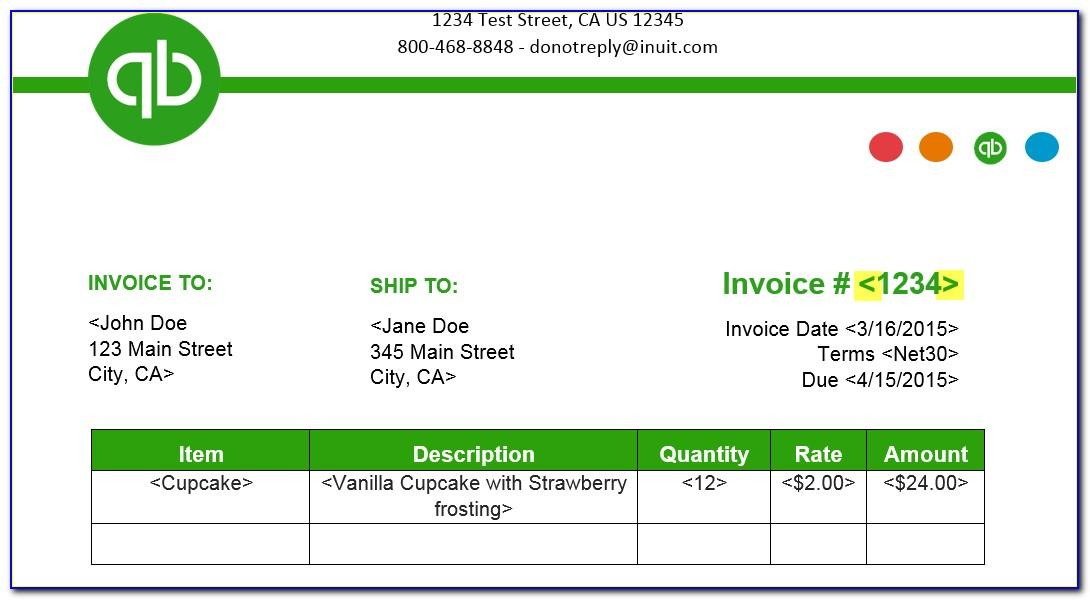 Intuit Quickbooks Invoice Templates