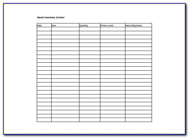 Inventory Checklist Template Excel Free