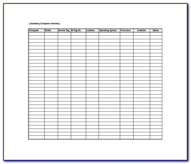 Inventory Count Sheet Template Excel