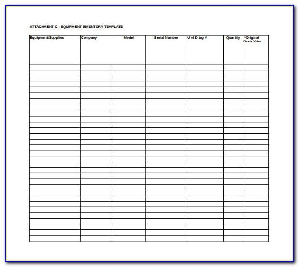 Inventory Sign Out Sheet Template Excel