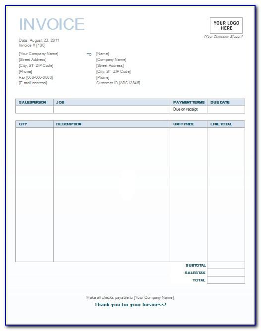 Invoice Template For Numbers Ipad