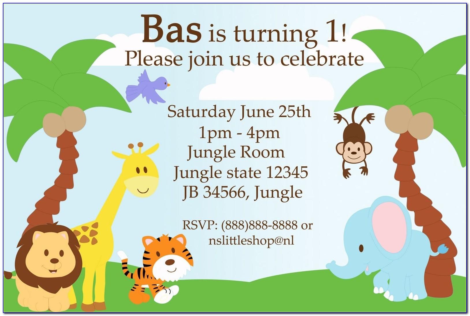 Jungle Theme Party Invitation Templates Free