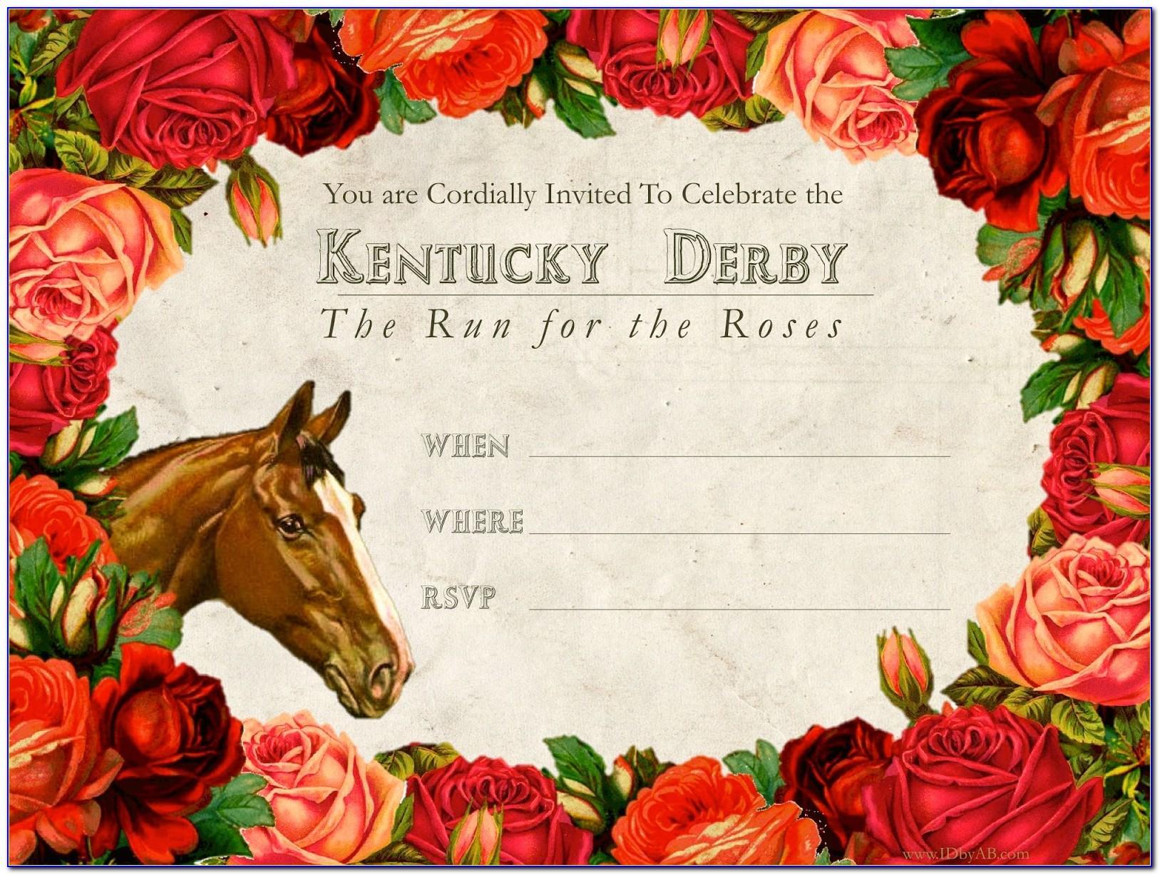 Kentucky Derby Invitation Templates Free