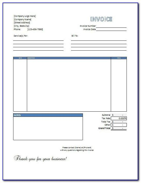 Labor Invoice Template Free Download