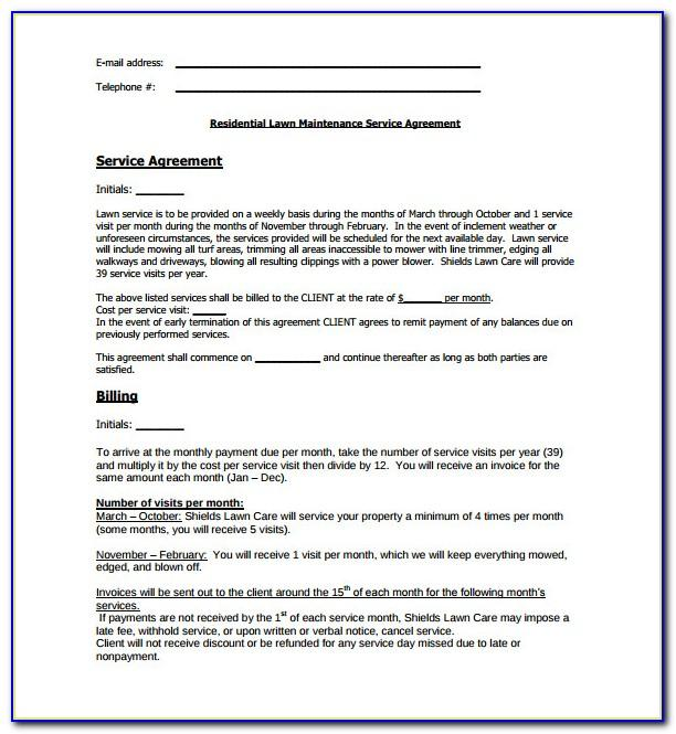 Lawn Contract Template
