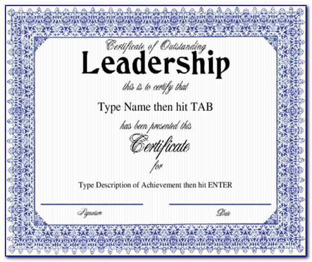 Leadership Certificate Templates Word