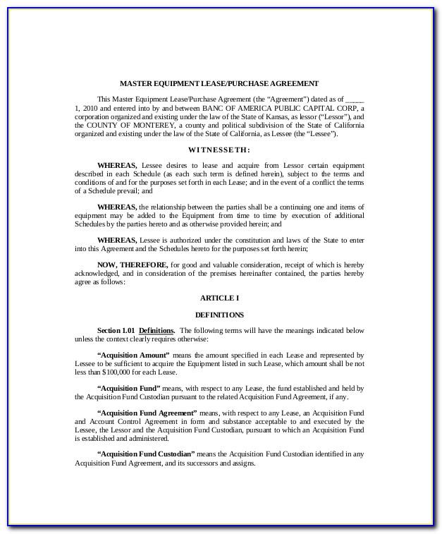 Lease Purchase Contract Form