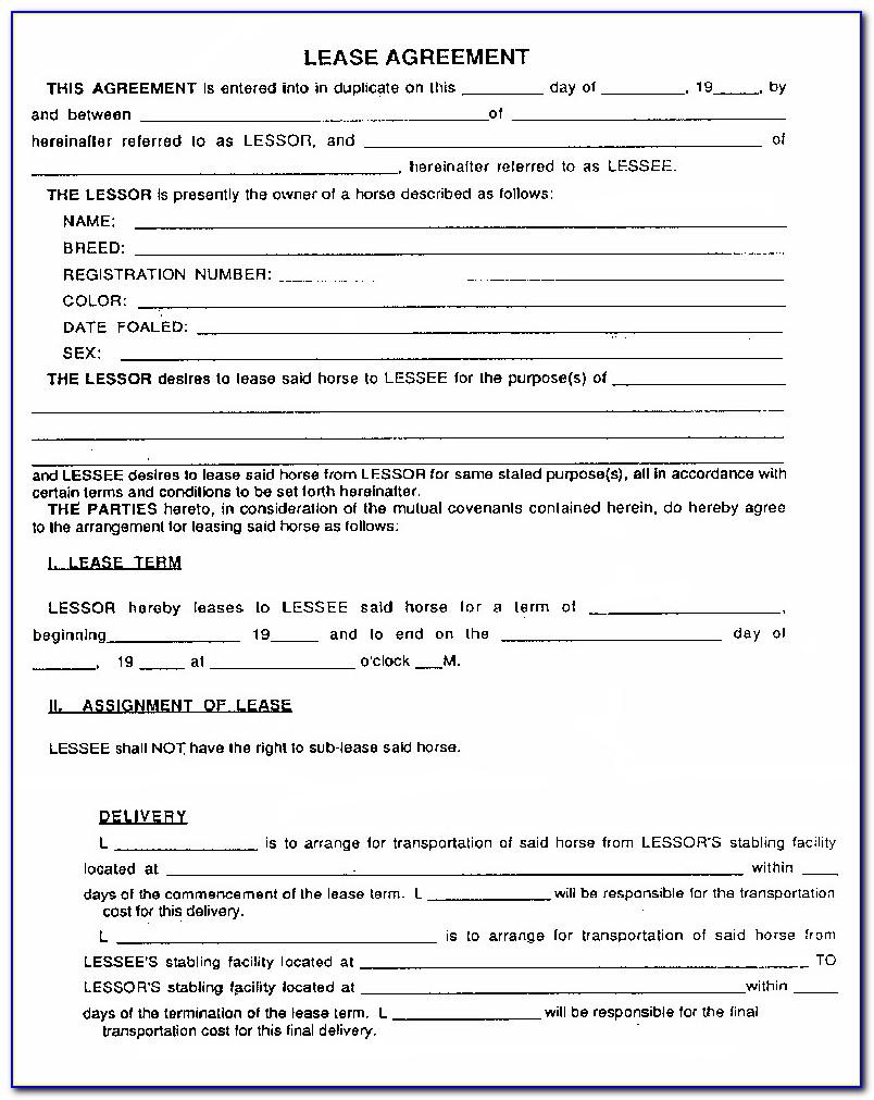Leasing Contract Template Pdf