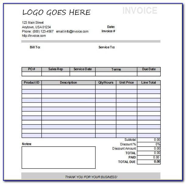 Libreoffice Calc Invoice Template