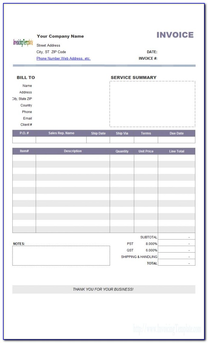 Libreoffice Invoice Template Download
