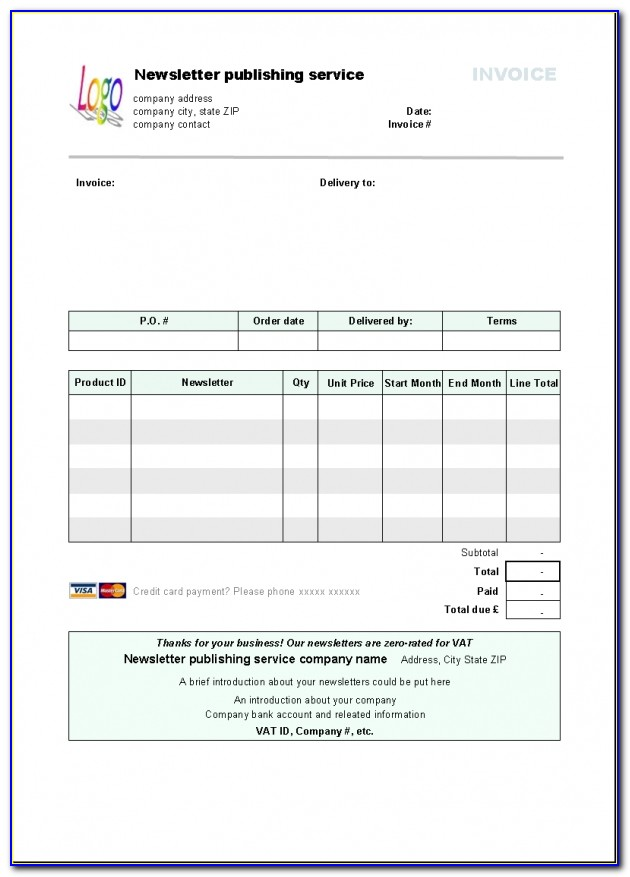 Libreoffice Invoice Template